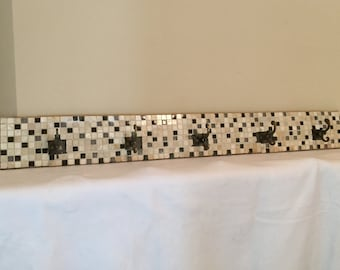Brown/Tan Mosaic Coat Rack