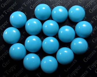 3mm 4mm 5mm Sleeping Beauty Turquoise Cabochon Round Loose Gemstone - Natural Turquoise - Jewelry Making AAA Quality turquoise gem - FOR ONE