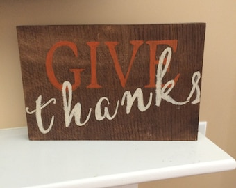 Give thanks  fall 2 sided sign