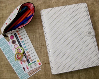 """Webster's Pages Composition Day Planner Cover in the """"Gold Dot"""" Design for itsjustemmy Planners"""