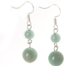 Beautiful pair of aventurine earrings