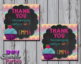 CUPCAKE FAVOR TAGS - Little Cupcake Birthday Party Favor Tags - Cupcake Gift Tags - Cupcake Party Favors - First Birthday Baking Party