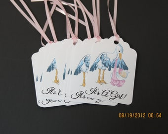 It's A Girl Gift/Favor Tags