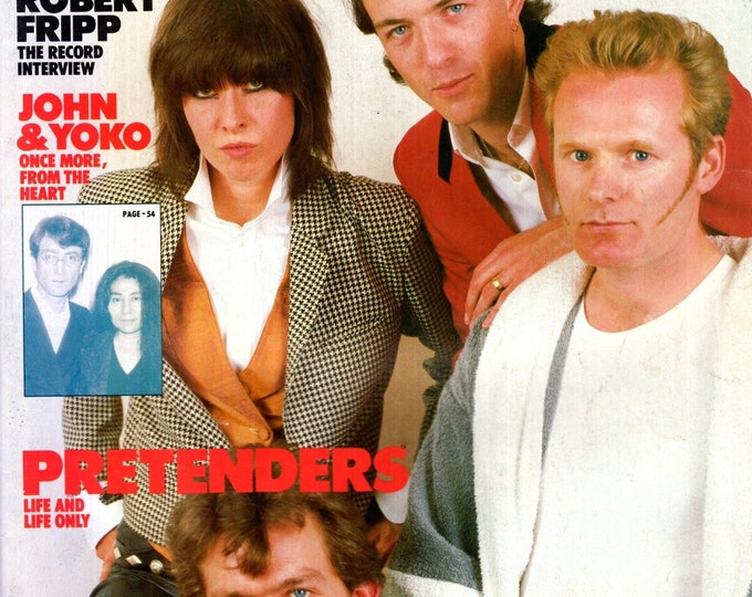 Record Magazine May 1984 Issue The Pretenders Cover