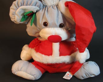 puff a lumps, 2 Christmas mouses...vintage 1988
