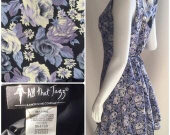 All That Jazz Floral Mini Dress