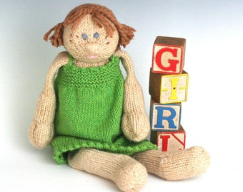 G is for Girl - PDF Knitting Pattern for a Stuffed Toy Doll