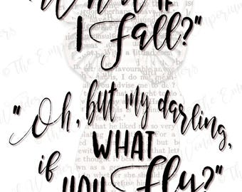 """Printable Poster """"What if..."""" - 50x70 cm - Digital Poster, Quotes, Wall decor, Artwork, Positive Thoughts, Motivational Poster"""