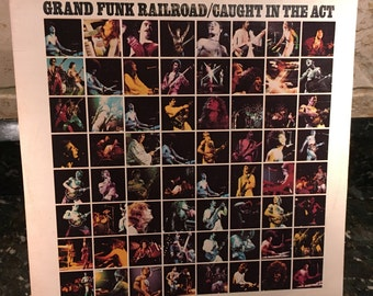 """Grand Funk Railroad """"Caught In The Act"""" 1975 Rock, 2-LP's Excellent Condition - Vintage Vinyl Record LP - Free Shipping"""