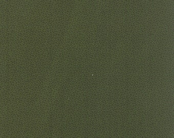 moda fabric by 1/2 yard MINIATURE PRIMITIVE GATHERINGS-tiny black vines on kale green 1157-21