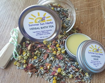 Herbal Bath Tea/Salve Set