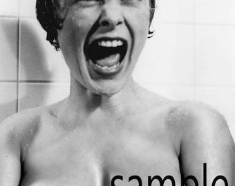 "Psycho Alfred Hitchcock Fantasy nude art photo print 8 ""x 12"""