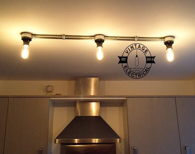 The briston bakelite 3 x industrial hanging ceiling bar table light antique vintage filament lamps steampunk