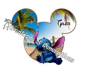 Disney Cruise Door Decoration Magnet ~ Stitch on Castaway Cay