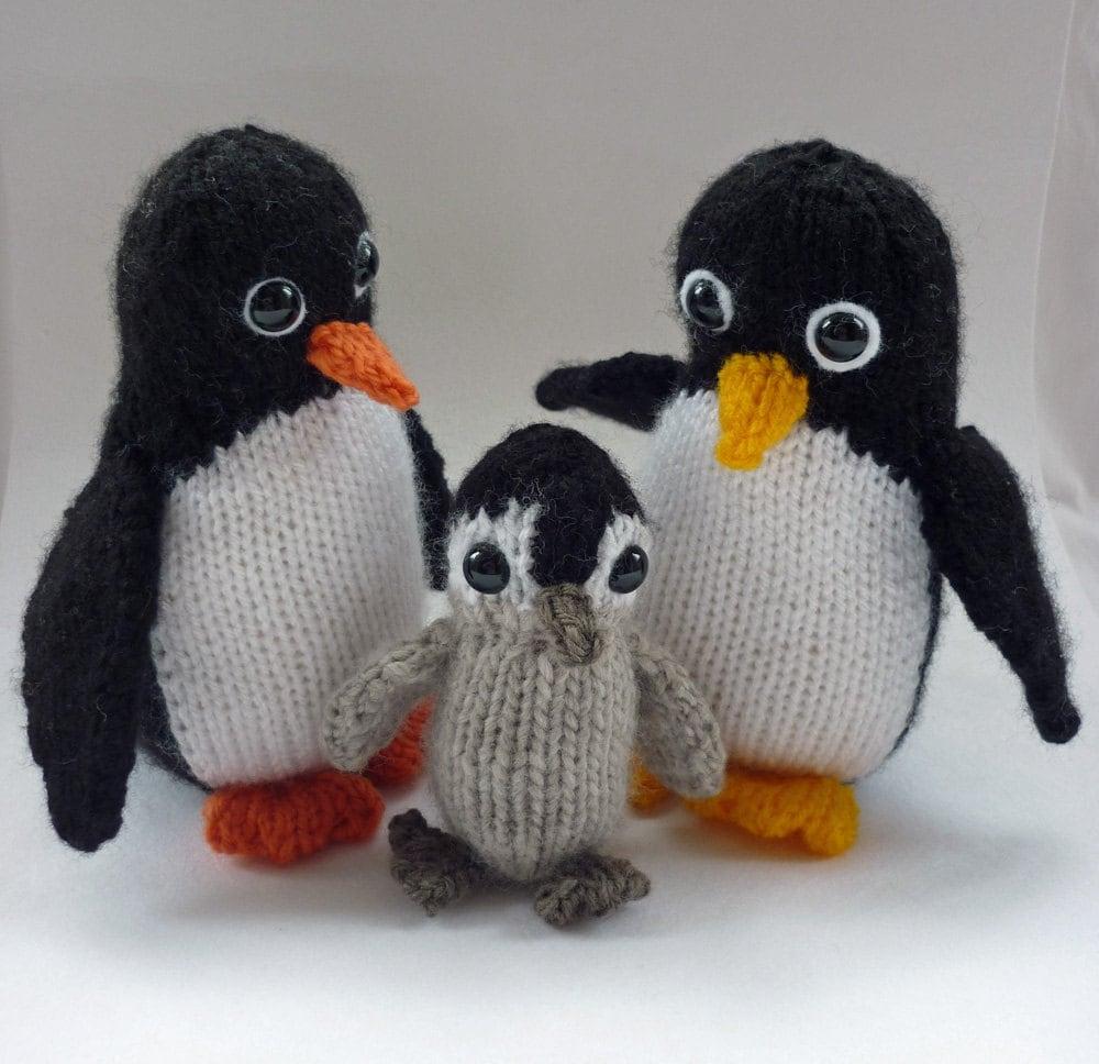 Penguin Knitting Pattern Knitted Penguin Pattern Penguin Toy