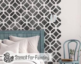 CHINESE GARDEN STENCIL - Oriental Trellis Furniture Floor Wall Craft Stencil for Painting - CHIN01