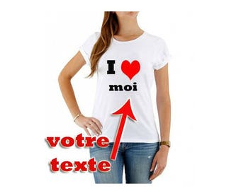 T Shirt I LOVE to customize woman
