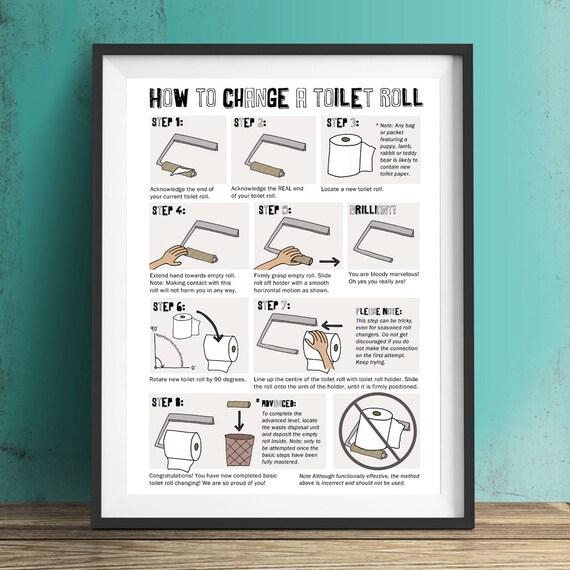 comment changer une affiche humoristique de rouleau de papier. Black Bedroom Furniture Sets. Home Design Ideas