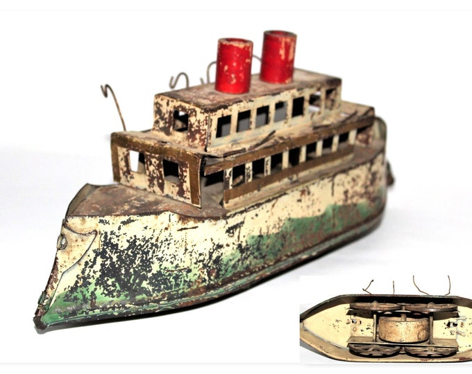 Antique 1908 D.P. Clark Co. Hill Climber Steamboat, Dayton Ohio, Schieble, Dayton