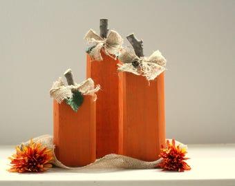 Handcrafted Pumpkins, Fall Pumpkins, orange pumpkin, wood pumpkin, fall wood, rustic pumpkins, hand painted pumpkins, burlap pumpkins