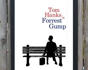 Forrest Gump minimalist movie poster