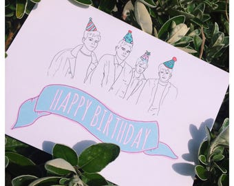 The Smiths Inspired Happy Birthday Card / 5 X 7
