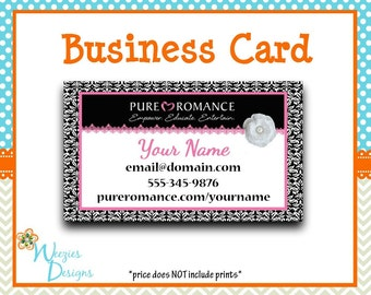Pure Romance Business Card, Direct Sales Marketing, Independant Consultant, Directs Sales Business Card