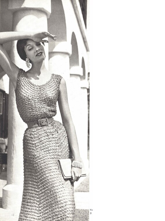 Celine Dress 1950s Wedding Bridal Crochet Summer Beach