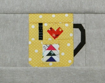 I Heart Quilting, a paper piecing pattern