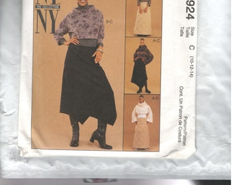 McCalls Pattern 2924 Size C 10-12-14 Skirts and Tops NY Collection