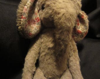 Esther - a OOAK hand stitched elephant.