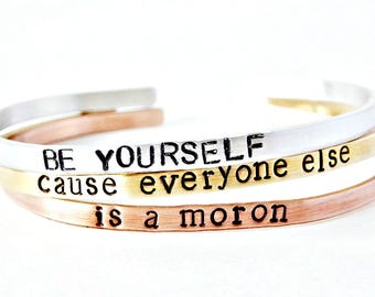 Funny Bracelet Set, Inspirational Bracelets for Women, Funny Jewelry, New Job Gift, Class of 2017, Gift For Her, Unique Best Friend Bracelet