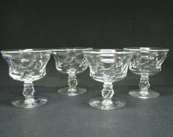 "Fostoria Jamestown Sherbet 4 1/4"" 6 1/2oz crystal 1958-82"