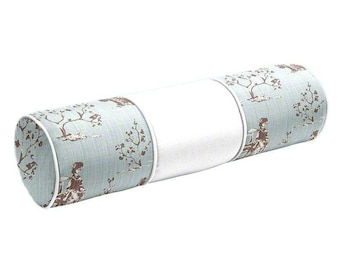 Bolster designer Chinoiserie blue colorblock Pillow Cover All Size Available cushion lumbar piping