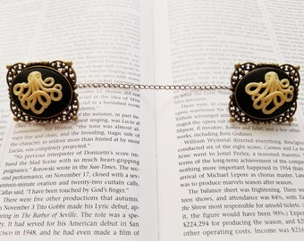 Steampunk Octopus Cameo Cardigan/Sweater Clips