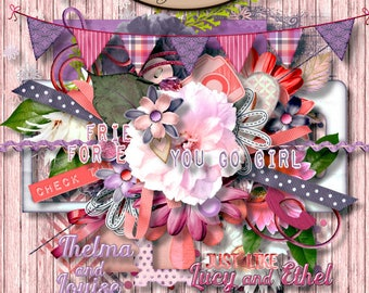 Digital Scrapbook: Elements, BFF Element Pack