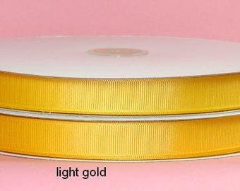 1.5 inch x 25 yds Grosgrain Ribbon  - LT GOLD