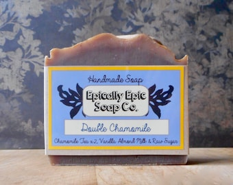 Double Chamomile Cold Process Soap - Vegan Handmade Soap