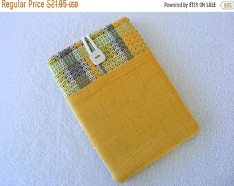 On Sale Now Colorful Yellow Plaid, Kindle Cover, IPad Mini Cover, IPad Mini Case, Kindle Fire Case, Kindle Fire Cover, Nook HD Cover, 8 1/2""