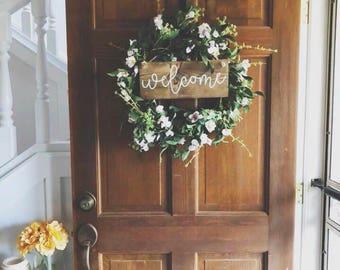 Wooden Welcome Door Sign || Hanging Door Sign
