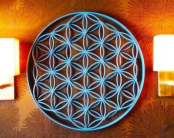 Flower of Life Sacred Geometry Metal Sculpture