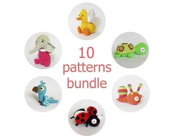 Amigurumi crochet patterns bundle / amigurumi toys / set of amigurumu patterns /