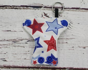 stars cloth diaper keychain - keychains for women - baby shower favors - present topper - baby shower gift - baby shower diaper cake