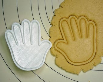Paper (Rock Scissors Paper) Cookie Cutter and Stamp
