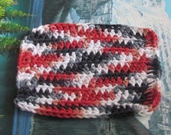 Hand crochet cotton dish cloth 6 by 6.5 cdc 109