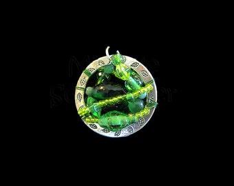 Green Glass - Ring Window Pendant