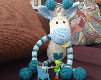 Crochet Giraffe. Big Amigurumi Giraffe. Baby toy. Woven dolls for girls and boys.