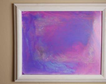 Cotton Candy Galaxy, 16x20, Acrylic on Canvas