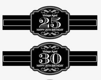 Birthday Cigar Label Etsy - Cigar label template