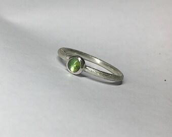 Ring Tourmaline Stackable, Beisteckring, engagement ring